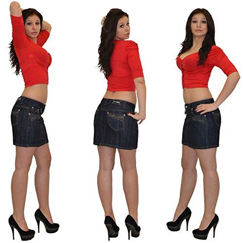 Jean Mini-Jupe pour Femmes Rock pour l'été Mini Jupe en Jean Femmes Mini Jupe en Jean très Chic R30 R32