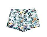 Lantra Besa Papagei und Ananas Wasserabweisende Schnelltrocknende Damen Frauen Badehose Badeshorts Boardshorts Mini Shorts für Wassersport und Freizeit im Sommer Typ 21 - L