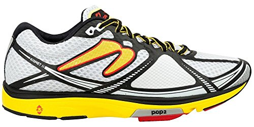 Newton Running Men's Kismet II Running Shoe, Scarpe Uomo, Bianco (White/Yellow), 42 EU