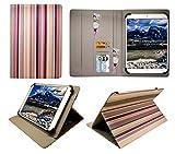 Sweet Tech Wortmann Terra Pad 1004 10.1 Zoll Tablet Vertikale Streifen Universal Wallet Schutzhülle Folio (10-11 Zoll)