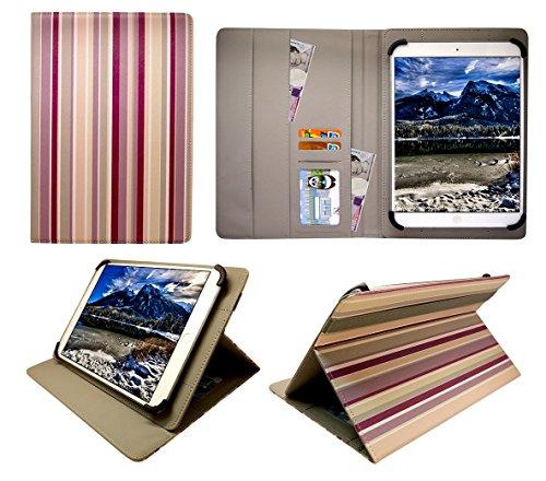 HKC One Thor M104Y 10.1 inch Tablet Vertikale Streifen Universal Wallet Schutzhülle Folio ( 10 - 11 zoll ) von Sweet Tech