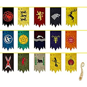 Juego de Tronos Banner, Juego de tronos Bandera (5m 15pcs) 2