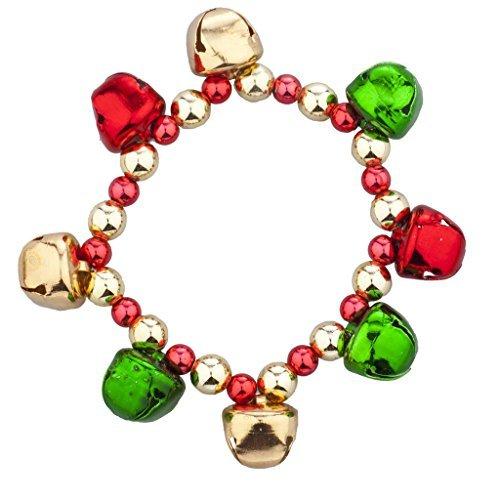 (LUX Zubehör Gold Ton Weihnachten X-mas Holiday Jingle Bells Armband)