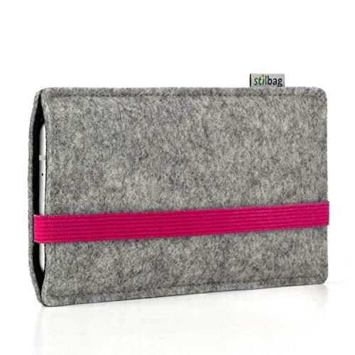 Stilbag Custodia di feltro 'LEON' per Nokia 5.1 Plus - Colore: pink - grigio