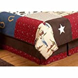 Best Sweet Jojo Designs Bed Skirts - Wild West Cowboy Western Horse Queen Kids Childrens Review
