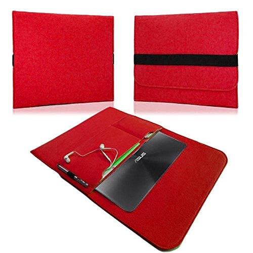 NAUC HP EliteBook Folio G1 12,5 Zoll Tasche Hülle Filz Sleeve Schutzhülle Case Cover, Farben:Rot