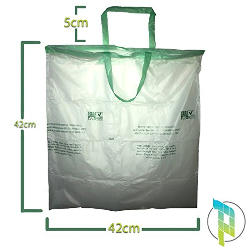 Palucart® 10 Rotoli da 15 Sacchetti biodegradabili 10 Litri per Raccolta Umido 150 Sacchi Organico compostabili e biodegradabili f.to 42 x 42 Sacchetti Umido biodegradabili