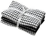 Towelsdirect Superdry Geschirrtuch, 40 x 65cm, ägyptisches Frottee, Schwarz/Weiß, 3Stück