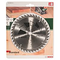 Bosch 2609256809 Standard Circular Saw Blade with Teeth / Carbide / Clean Cut / 156 mm Diameter / 12.75 mm Bore / Reduction Ring / 2.2 mm Cutting Width