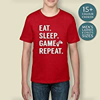 Boy's Eat Sleep Game Repeat Shirt, Gifts For Him, Christmas Gift, Gifts For Son, Nerdy Gifts, Geeky Tshirts, Gaming Tshirts, Nerdy Tshirts, Geeky Gifts, Gifts For Geeks