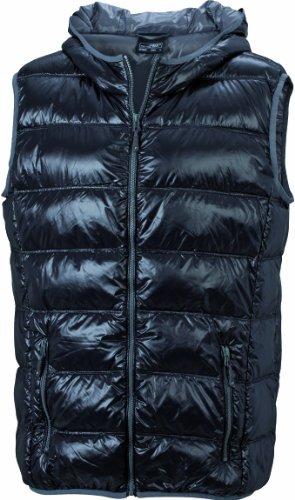 James & Nicholson Herren Jacke Daunenweste Men's Down Vest Black/Grey