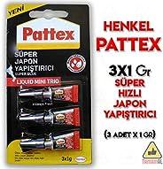 Henkel - Pattex-Süper Japon Mini Trio 1g - 3'lü Blister