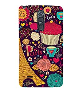 printtech Pop Lips Colored Back Case Cover for LG G3 Stylus::LG G3 Stylus D690N::LG G3 Stylus D690