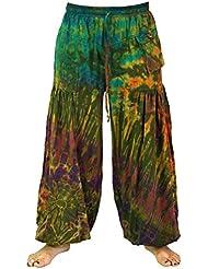 Batik Pluderhose, Haremshose Hippie Goa Hose / Pluderhosen und Aladinhosen