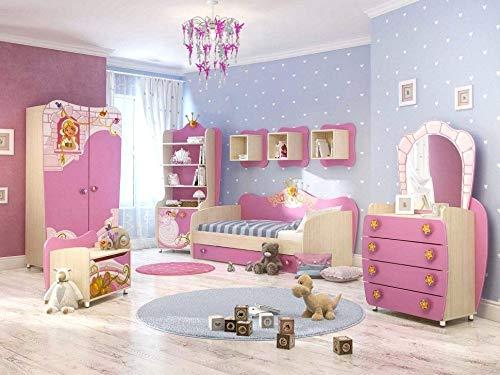 Unicorno Decorazione Lampadario per Camera da Letto Bambini Bambine  Paralume Rosa Viola e Argento con Pendenti (fate)