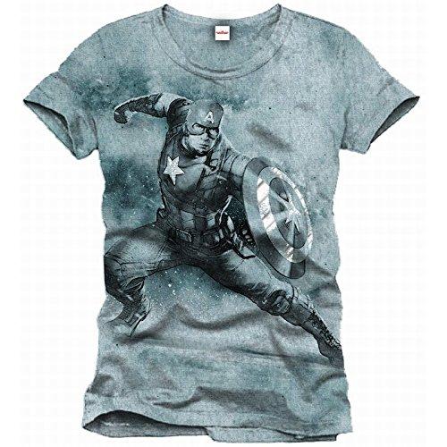 Captain America -  T-shirt - Uomo Grigio XXL