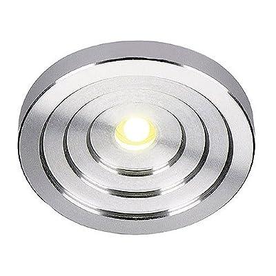 SLV LED Konkav Downlight rund, alu gebürstet, 1 W, 3200 K, warmweiß 114832 von SLV auf Lampenhans.de