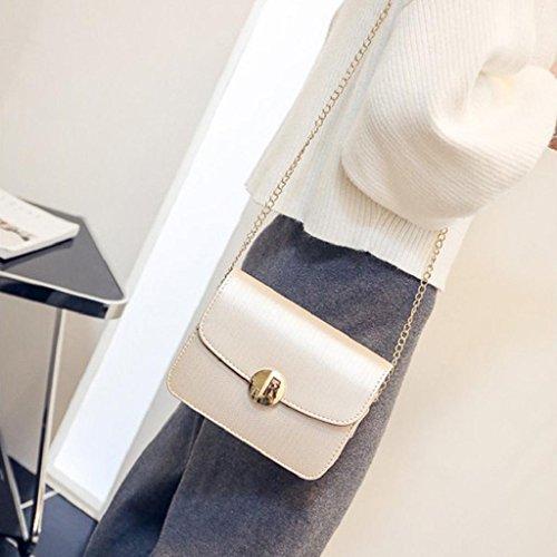 2017 Kangrunmy Le donne sacchetti della borsa catena Donne Messenger Bag sopra le spalle il sacchetto femminile del sacchetto Giallo