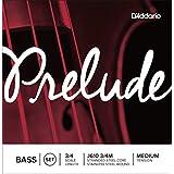 D'Addario Bowed Jeu de cordes pour contrebasse D'Addario Prelude, manche 3/4, tension Medium