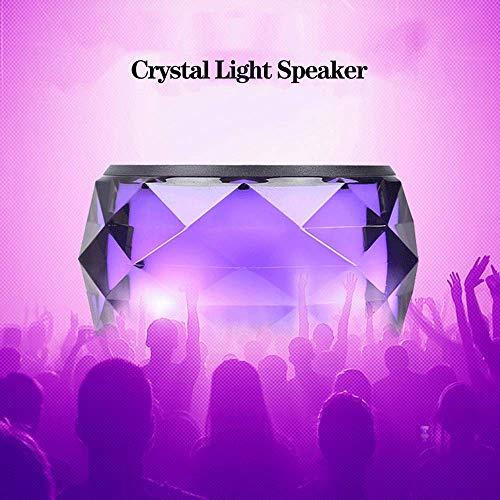 LED Bluetooth Lautsprecher Speaker Tragbarer Mini Bunter Nachtlicht Drahtloser Außenlautsprecher, Kristall Nachttischlampe & Eingebautes Mikrofon für iPhone/Tablet/Laptop usw. (Blue) - Lautsprecher-tower Farbwechsel