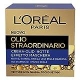 L'Oréal Paris Crema Viso Notte Olio Straordinario, Texture Nutriente, Arricchito con Oli Essenziali e Pappa Reale, 50 ml