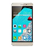Kivors 6 Inch Android 5.1 Mobile Phone Unlocked 3G Smartphones SIM-Free 1GB+ 8GB 1.3GHz Quad Core Phone 5MP+2MP Dual Camera Dual SIM Card Dual Standby Mobile Phone Smartphone (Gold)