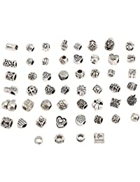 RKC 5 to 200 PCS SILVER + GOLD Plated CHARMS PENDANTS BEADS MIX For Bracelets JEWELLERY Making Chains NECKLACES *NO REPEATS NICKEL + LEAD FREE * Compatible with Pandora Biagi Troll Chamilia Bracelets