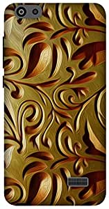 The Racoon Grip Gold Weave hard plastic printed back case for Huawei Honor 4C