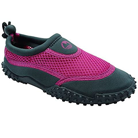 Lakeland Active Kid's Eden Aqua Shoes -Grey/Pink - 34