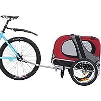 Leonpets mascotas Remolque de bicicleta Perros Carro Transporter con acoplamiento universal Rojo Nuevo 10115