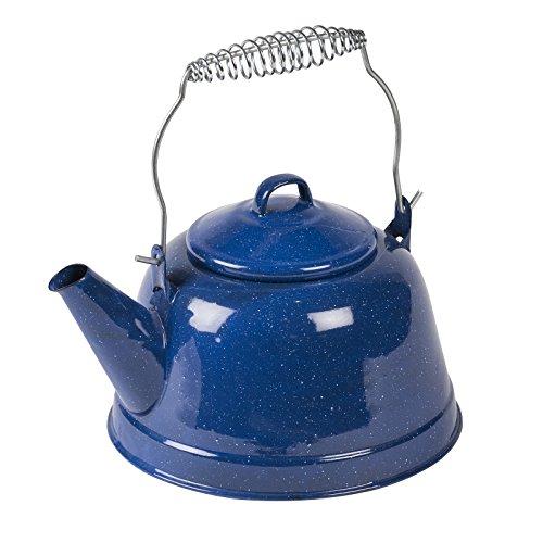 Retro Wasserkocher blau aus robustem Emaille mit klassischem Spiralengriff 2,5l • Kessel Teekessel Wasserkessel Teekanne Camping Outdoor 2L