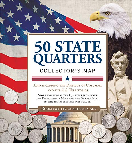 50 State Commemorative Quarters Collector's Map: Including the District of Columbia and the U.s Territories - Japan, Antique Map
