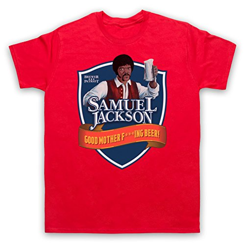 Samuel Jackson Good Motherf'ing Beer Chappelle Show Parody Herren T-Shirt Rot