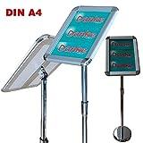 ✓ Infoständer A4 Alu Klapprahmen   ✓ Plakatständer   ✓ Werbeständer - hoch oder quer nutzbar
