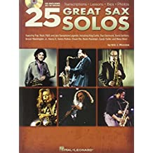 25 Great Sax Solos. Partituras, CD para Saxofón, Saxofón Alto, Saxofón Tenor, Saxo Soprano