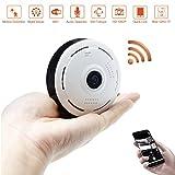 360 ° Panorama Wlan IP Sicherheit Kamera LXMIMI 1080P Wlan Videoüberwachung Dome Überwachungskamera IP Cam mit IR Nachtsicht /Bewegungsmelder für Haus /Baby Überwachung
