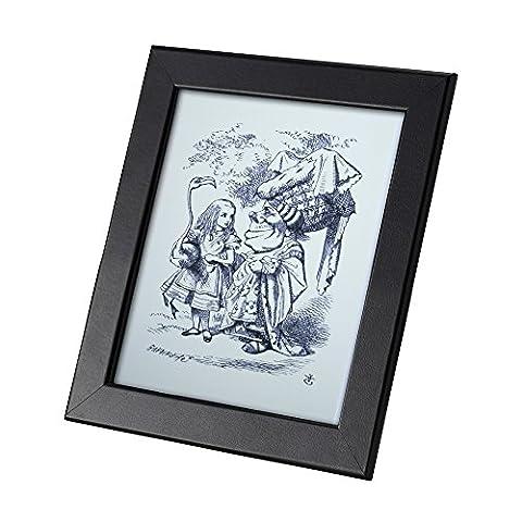 Alice in Wonderland Carte Postale Authentique Avec Cadre Alice Flamingo Duchess B&W Cadeau Drôle