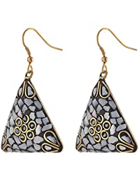 Zephyrr Fashion Hanging Hook Earrings for Women and Girls Handmade Tibetan Style