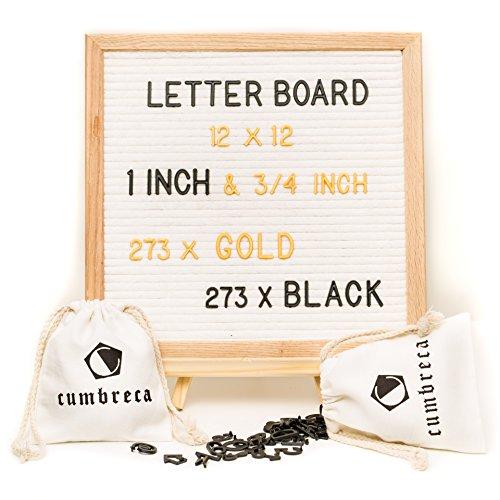 30 x 30 cm Message Felt Letter Board Holz und Filz wechselbaren Buchstaben Tafel im Holzrahmen mit 546 Buchstaben & Symbolen Rillentafel in zwei Größen mit 2 Aufbewahrungstaschen - Im Board Buchstaben Freien