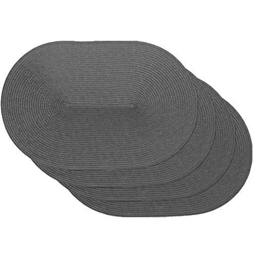 Set de Mesa Trenzado Set Spiral Grey ovalados