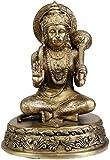 Exotic India Lord Hanuman Abhaya gewähren, und Messing Statue