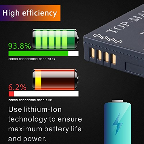 TOP MAX® DMW BCG10E BCG10 E Akku + USB Ladegerät für
