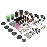 DIU 140-161 Set di accessori per smerigliatrice elettrica, testa di smerigliatura, anello in carta vetrata, lama da taglio in resina, pennello, incisione, utensili per auto
