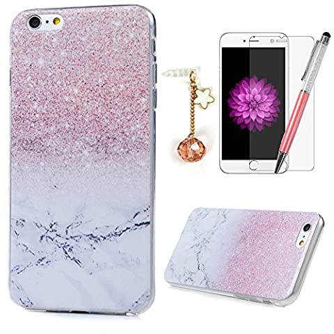 iPhone 6, iphone6s Fall MAXFE. CO Transparent Flexible Soft dünn Gel TPU Shell Cover buntes Muster Gedruckt Fall für 11,9 cm iPhone 6 iPhone 6S [Paket: One Phone Fall + One Ultra Clear Displayschutzfolie + One Touch Pen + ein Staub Stecker]