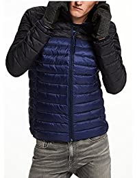 SCOTCH AND SODA Quilted Hooded Veste Bleu/noir