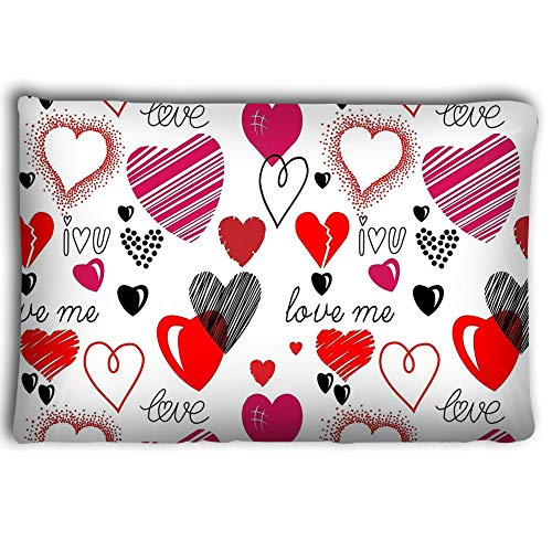 Dengtashi Pillow Cases Love Theme Hearts Seamless Background Seamless Hearts Background Love Theme Hearts Valentine s Day Pattern Wallpaper Vector 20 * 30inch