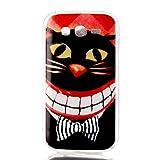 Qiaogle Teléfono Caso - Funda de TPU silicona Carcasa Case Cover para Samsung Galaxy Grand Neo i9060 / Grand Neo Plus i9062 (5.0 Pulgadas) - YH34 / Sonrisa gato