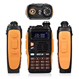 2014 Mark II Baofeng GT-3 UHF/VHF Dual Band Funkgerät Two Way Radio Walkie Talkie PMR (USB ProgrammierKabel und Remote Speaker Mikrophon enthaltend) - 3