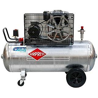 Airpress ölgeschmierter Druckluft-Kompressor GK 700-200 (4 kW, 11 bar,270l Kessel, 400 Volt) großer Kolben-Kompressor