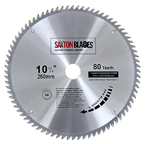 TCT26080T Saxton TCT Circular Wood Saw Blade 260mm x 30mm x 80T Festool Bosch Makita Dewalt